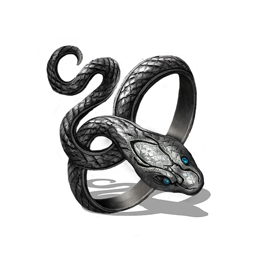 Gold Silver Serpent Ring Dark Souls