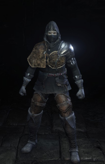 Black Leather Set & Armor - Darksouls3
