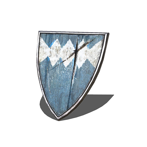 Blue Wooden Shield Image