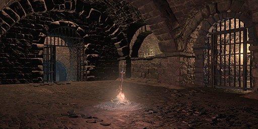 Irithyll Dungeon Bonfire Image