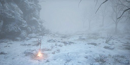 Snowfield Bonfire Image